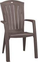 Allibert santorini kartámaszos műanyag kerti szék, cappuccino