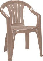 Curver sicilia kartámaszos műanyag kerti szék, cappuccino