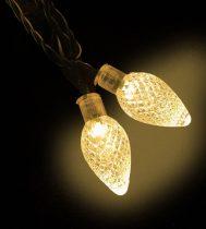 Dekortrend Kültéri Kristálycsepp fényfüzér, 30 LED, MELEG FEHÉR, 6 méter zöld kábel
