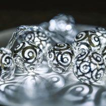 Dekortrend Androméda fényfüzér, átlátszó kábel, 10 led, hideg fehér