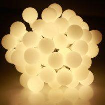Dekortrend Kültéri Gyöngy fényfüzér, 120 LED, MELEG FEHÉR, 9,6 m, zöld kábel, 5 m betápkábel