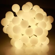 Dekortrend Kültéri Gyöngy fényfüzér, 180 LED, MELEG FEHÉR, 14,4 m, zöld kábel, 5 m betápkábel