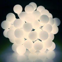 Dekortrend Kültéri Gyöngy fényfüzér, 180 LED, HIDEG FEHÉR, 14,4 m, zöld kábel, 5 m betápkábel