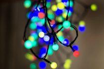 Dekortrend Kültéri Gyöngy fényfüzér, 240 LED, SZÍNES, 19,2 m, zöld kábel, 5 m betápkábel