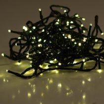 Dekortrend Beltéri LED Fényfüzér 40 db MELEG FEHÉR LED-del, 3,2 m, zöld kábel, 1,5 m betáp