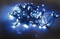 Dekortrend Beltéri LED Fényfüzér 40 db HIDEG KÉK LED-del, 3,2 m, zöld kábel, 1,5 m betáp |DT_KDL 043