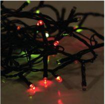 Dekortrend Beltéri LED Fényfüzér 80 db SZÍNES LED-del, 6,4 m, zöld kábel, 1,5 m betáp