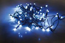 Dekortrend Beltéri LED Fényfüzér 120 db HIDEG KÉK LED-del, 9,6 m, zöld kábel, 1,5 m betáp