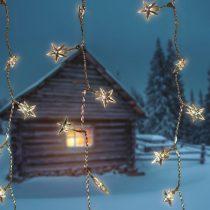 Dekortrend Kültéri Csillag LED fényfüggöny 0,9 x 2,0 m, 192 db  MELEG FEHÉR LED-del  DT_KDS_144 