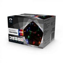 Dekortrend Kültéri LED Fényfüzér 240 db SZÍNES LED-del, timer funkcióval