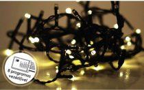 Dekortrend Kültéri vezérlős LED Fényfüzér 120 db / 6 m HIDEG FEHÉR LED-del