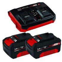 Einhell 2x 3,0Ah & Twincharger Kit akku és töltő szett |4512083|