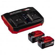 Einhell 2x5,2 Ah & Twincharger Kit 2 db akku + dupla töltő szett
