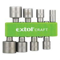 Extol Craft behajtó klt. hatlapfejű csavarhoz 8db; 5-13mm(5-5,5-6-7-8-10-11-13mm),36-38mm hossz, hatszög befogás, nem mágneses, C.V. |10213|