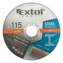 Extol Craft vágókorong fémhez; 115×1,0×22,2mm, max. 13.300 ford/perc (darabáras, de csak ötösével rendelhető) |106901|