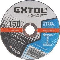 Extol Craft vágókorong fémhez; 115×1,6×22,2mm, max. 13.300 ford/perc, (darabáras, de csak ötösével rendelhető) |106910|