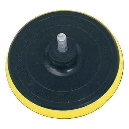Extol Craft gumitányér fúrógéphez; 125mm tépőzáras, befogás: 8mm, max. 10.000 ford/perc