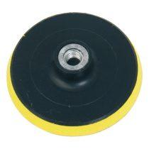 Extol Craft gumitányér sarokcsiszolóhoz; 125mm, tépőzáras, max. ford.:12.500 1/min