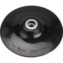 Extol Craft gumitányér sarokcsiszolóhoz; 125mm, M14, kemény, max. 12.500 ford./perc