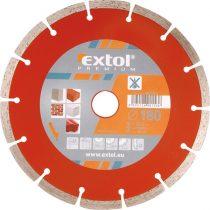 Extol Premium gyémántvágó szegmenses; 180×22,2mm, max.8.500 f/min |108714|