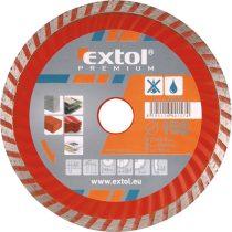 EXTOL PRÉMIUM gyémántvágó TURBO gránit/kerámia; 230×22,2mm, max.6.650 ford/perc