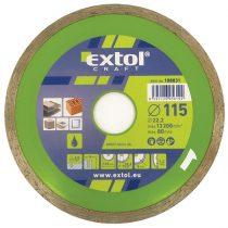 EXTOL gyémántvágó csempevágáshoz (sima), vizes vágásra; 230×2,5×22,2mm, max.6.600 ford/perc