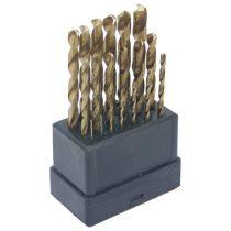 Extol Craft fémfúró klt., 19db, TITÁN bevonatú, HSS; 1-10mm polírozott, műanyag dobozban |1119A|