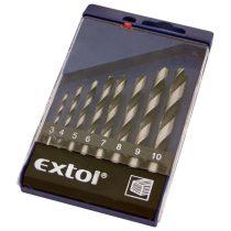 Extol Craft fafúró klt., műanyag dobozban; 8db 3-10mm polírozott  1142 