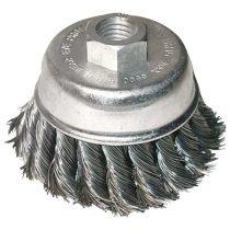 Extol Craft drótcsiszoló fazékkefe  sodort szálú ; sarokcsiszolóhoz, M14×2 két soros, 80mm, max. 12500 ford/perc |17009|
