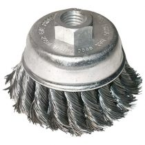 Extol Craft drótcsiszoló fazékkefe sodort szálú ; sarokcsiszolóhoz, M14×2 két soros, 80mm, max. 12500 ford/perc