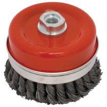 Extol Craft drótcsiszoló fazékkefe  sodrott erős; sarokcsiszolóhoz, M14×2, 100mm, max. 7000 ford/perc |17010|