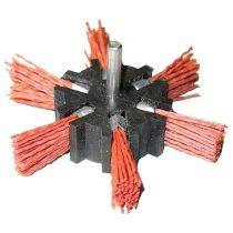 Extol Craft PVC csiszoló körkefe; 100mm, 6mm-es csap, fúróba fogható, max. 4500 ford./perc