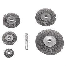 Extol Craft drótcsiszoló körkefe készlet; 6mm-es csap, 25-38-50-63-75mm  1830 