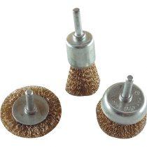 Extol Craft drótcsiszoló körkefe fazékkefe készlet; O 6mm-es csap, fúróba fogható, max. 4500 ford/perc |1832|