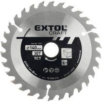 EXTOL körfűrészlap, keményfémlapkás, 185×30mm(lyuk átm), T36; 2,7 mm lapkaszélesség, max. 8.200 ford/perc