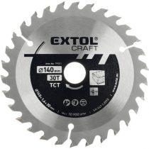 Extol Craft körfűrészlap, keményfémlapkás, 210×30mm(lyuk átm), T60; 2,7 mm lapkaszélesség, max. 7.200 ford/perc  19110 