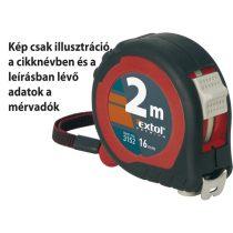 Extol Premium mérőszalag, gumírozott, 2 stoppos; 2m×16mm  3152 
