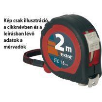 Extol Premium mérőszalag, gumírozott, 2 stoppos; 2m×16mm |3152|