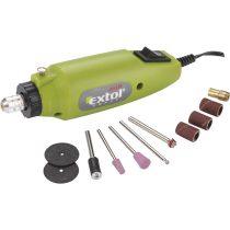 Extol Craft mini köszörű és fúrógép + tartozékok, 12V; 12.000 ford/perc |404120|