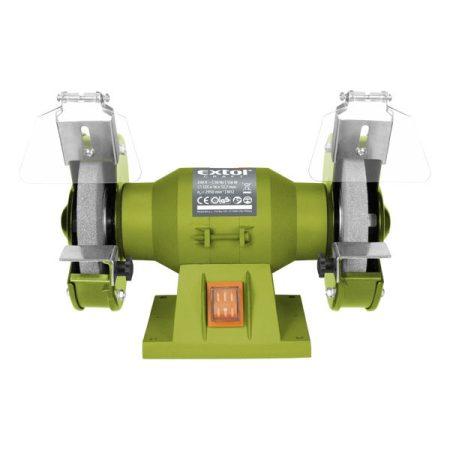 Extol Craft kettős köszörűgép 150W,száraz,125×12,7×16mm; 2950 ford/perc, P36, P80, 6kg  410120 