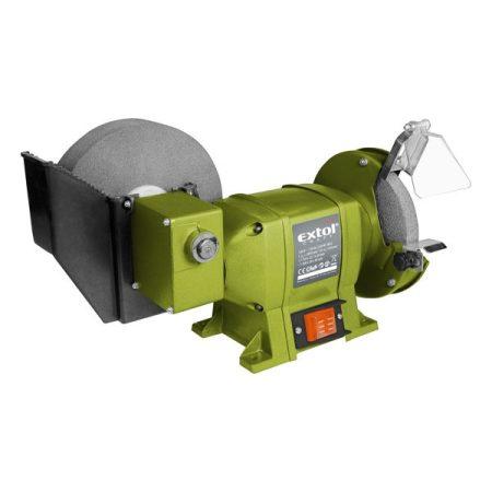 Extol Craft kettős köszörűgép 250W, vizes/száraz; 200mm×20×40/150×12,7×20mm, 134/2950 ford/perc, 8,5kg  410133 