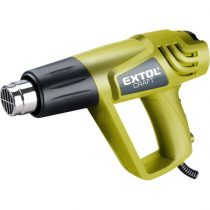 EXTOL hőlégfúvó, 2000W két fokozatú, 1000W/2000W, 350/550°C, 300/500 L/perc,