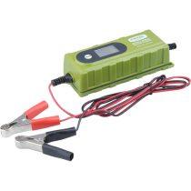 Extol Craft akkutöltő, autós, mikroprocesszoros, intelligens; 0,8/3,8 Amp, 4-120Ah, DC 12V/6V |417300|