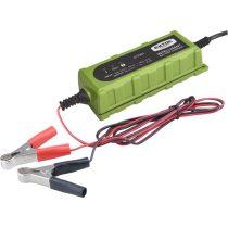 Extol Craft akkutöltő, autós, mikroprocesszoros, intelligens; 1 Amp, 4-100Ah, DC 12V/6V