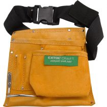 Extol Craft szerszámtartó öv,3 zsebes, hasított bőr; műanyag csattal |418|