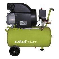 Extol Craft olajos légkompresszor, 1500W, 24l tartály, 8 bar; beszívott:208l/min |418200|