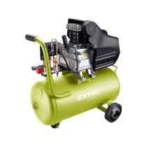 Extol Craft olajos légkompresszor, 1100W, 24l tartály, 8 bar, beszívott levegő: 154l/min |418201|