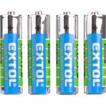 Extol Light elem klt. 4 db, cink-klorid, féltartós, 1,5V; méret: AAA (LR03), bliszteren |42000|