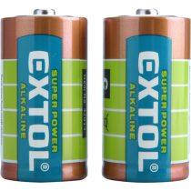 Extol Light elem klt. 2 db, alkáli, 1,5V, méret: C (LR14); hosszú étettartam, bliszteren |42014|