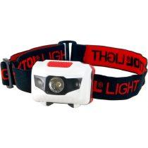 Extol Light LED fejlámpa, 1 W fehér+2 piros LED, 40 Lumen; 4 funkció, elem nélkül  43102 